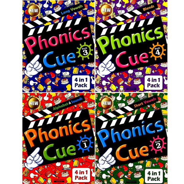S NEW Phonics Cue 1~4 Set